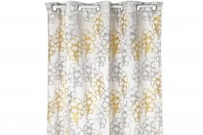 CURTAIN POLYESTER 140X270 GINKO TWO-COLORED