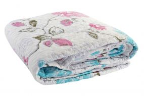 QUILT COTTON POLYESTER 180X260 285 GSM. FLOWERS