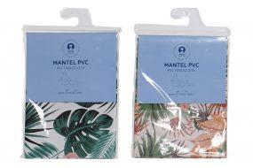 MANTEL PVC 140X140 TROPICAL 2 SURT.