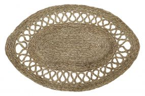 CARPET SEAGRASS 100X150X1,5 OVAL NATURAL