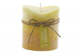 CANDLE WAX FRAGRANCE 8,7X8,7X10 BOW YELLOW