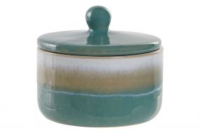 CANDLE PORCELAIN WAX 12X12X11 TOP GREEN