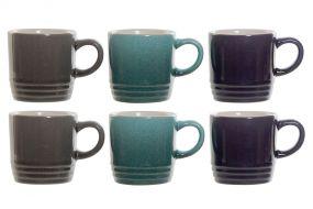 CAFE SET 6 GRES 9X6,5X6,5 90 ML, GRIS