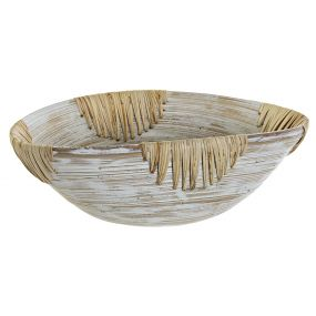 BOWL BAMBOO 35X23X12 WHITE