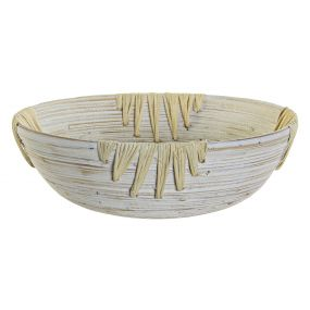 BOWL BAMBOO 30X30X9,5 WHITE