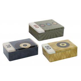 BOX METAL 20X13X7 1630 ML. VINYLS MATTE 3 MOD.