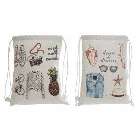 RUCKSACK COTTON POLYESTER 28X36 OBJECTS 2 MOD.