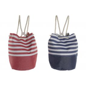 HANDBAG CANVAS COTTON 48X45X60 STRIPES 2 MOD.