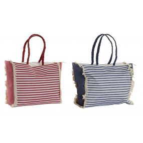 HANDBAG FIBER COTTON 59X15X61 STRIPES 2 MOD.