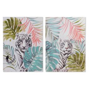 PICTURE CANVAS 70X3X100 TIGER HAND PAINTED 2 MOD.