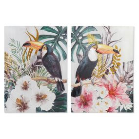 PICTURE CANVAS 70X3X100 TOUCAN HAND PAINTED 2 MOD.
