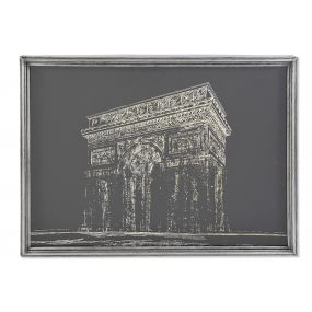 PICTURE METAL WOOD 81X6X61 PARIS FRAMED BLACK