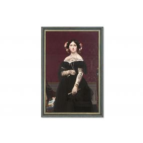 PICTURE MDF GLASS 76X3X110 WOMAN FRAMED