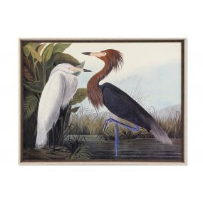 PICTURE MDF GLASS 105X3,5X80 PAJAROS FRAMED