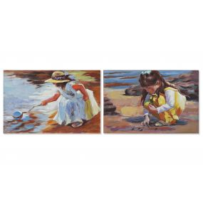 PICTURE CANVAS MDF 90X2,8X60 BEACH GIRL 2 MOD.
