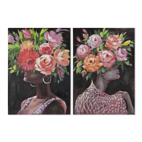 PICTURE CANVAS MDF 70X2,8X100 FLOWERS WOMAN 2 MOD.