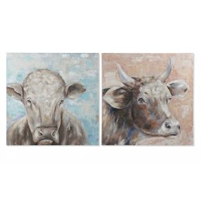 PICTURE CANVAS PINE TREE 100X3,5X100 COW 2 MOD.