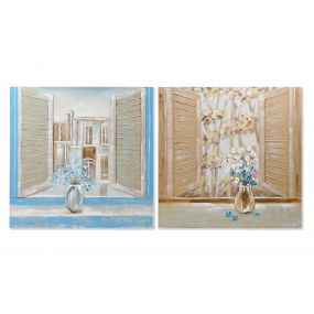 PICTURE CANVAS PAPERBOARD 100X3X100 WINDOW 2 MOD.