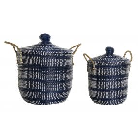 BASKET SET 2 FIBER 40X40X51 BLUE