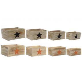 BOX SET 4 PAULOWNIA 41X31X20 2 MOD.