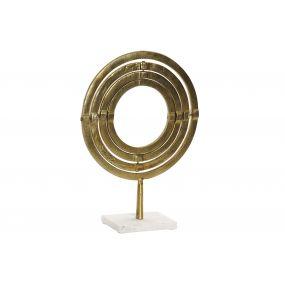 FIGURE ALUMINIUM MARBLE 30X25,5X40 SPHERE GOLDEN