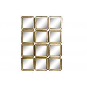 WALL DECORATION METAL 46,5X6,5X62 MIRROR GOLDEN