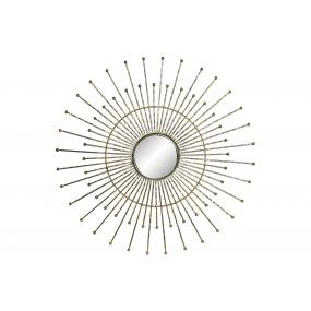WALL DECORATION IRON GLASS 57X2X57 GOLDEN