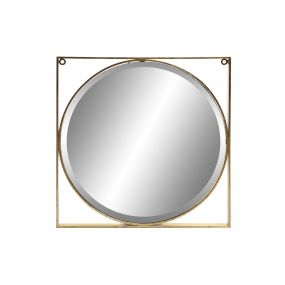 MIRROR METAL 60X2.8X60 CIRCLE MATTE GOLDEN
