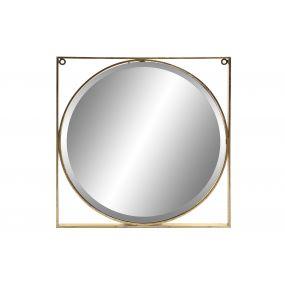 MIRROR METAL 60X2.8X60 CIRCLE MATTE GOLDEN