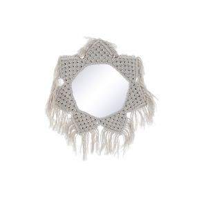 MIRROR POLYESTER METAL 34X1,5X34 STAR BRAIDED