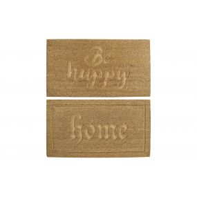 DOORMAT COCO FIBER 75X45X1,5 HOME HAPPY 2 MOD.