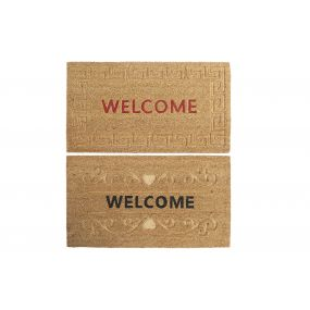 DOORMAT COCO FIBER 75X45X1,5 WELCOME 2 MOD.