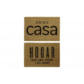 FELPUDO FIBRA COCO 60X40X1,5 CASA HOGAR 2 SURT.