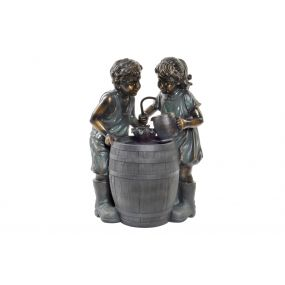 FOUNTAIN RESIN LED 57X42X77 CHILDREN GREY