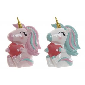 MONEY BOX RESIN 14X10X19 UNICORN 2 MOD.