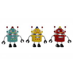 MONEY BOX RESIN 19X10X18 ROBOT 3 MOD.