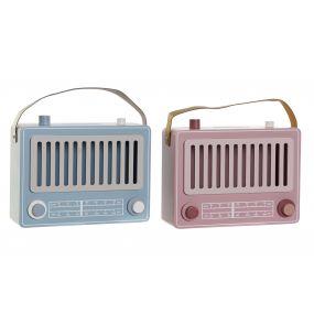 MONEY BOX MDF 22X8,5X17,5 VINTAGE RADIO 2 MOD.