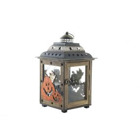 STREETLIGHT WOOD METAL 22X22X36 PUMPKINS
