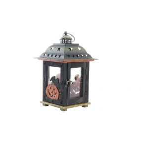 STREETLIGHT WOOD METAL 17X17X26,5 PUMPKINS