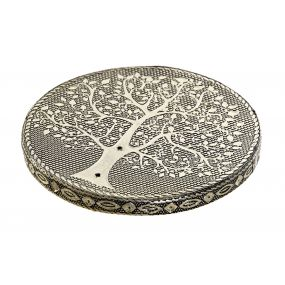 INCENSE STAND WOOD 9,5X9,5X1,2 TREE OF LIFE