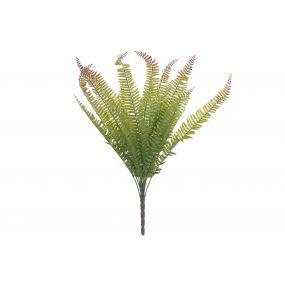 PLANT PVC IRON 25X20X55 FERN GREEN