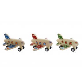 TOY WOOD 9X10X5,5 AIRPLANE 3 MOD.