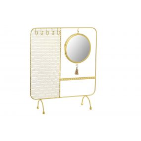 JEWELER METAL MIRROR 30X10X35,5 EARRINGS GOLDEN