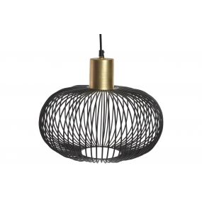 CEILING LAMP METAL 33X33X25 MATTE GOLDEN