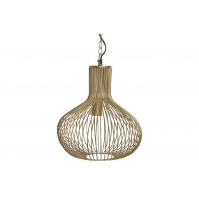 CEILING LAMP METAL 29X29X35 MATTE GOLDEN