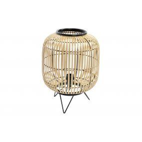 TABLE LAMP BAMBOO METAL 30X30X40,5 NATURAL