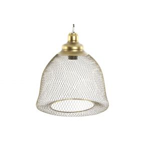 CEILING LAMP METAL 32X36 AGED GOLDEN
