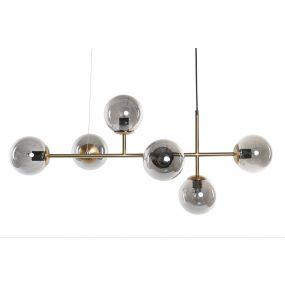 CEILING LAMP METAL GLASS 100X52X150 227 6 BALLS