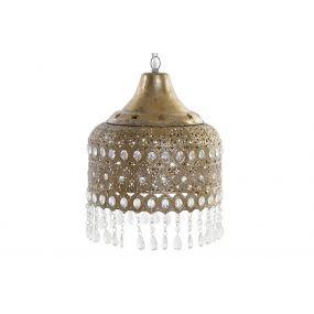 CEILING LAMP METAL ACRYLIC 33X40 ETHNIC AGED