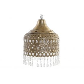 CEILING LAMP METAL ACRYLIC 33X40 ETHNIC AGED